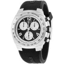 Alpina Avalanche Black Dial Silicone Strap Men's Watch...