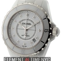 Chanel J12 White Ceramic Diamond Dial Ref. H1629