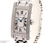 Cartier Tank Amercaine Lady 18k White Gold Diamond Sett...