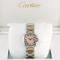 Cartier Ballon Bleu 33mm Steel & 18K Rose Gold Pink MOP