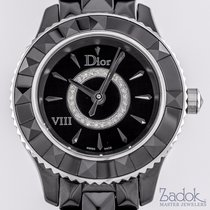 Dior VIII Black Ceramic Bezel 25 Diamonds on Dial Ladies' 28mm...