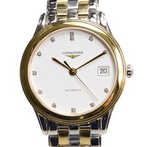 Longines Flagship Pvd Gold White Automatic L4.774.3.27.7