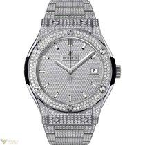 Hublot Classic Fusion Titanium Pave Men's Watch