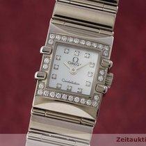 Omega Lady 18k (0,750) Weissgold Constellation Diamanten Damenuhr
