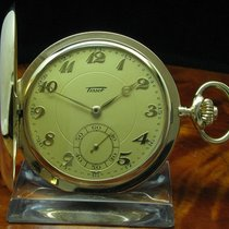 天梭 (Tissot) 14kt 585 Gold Savonette Sprungdeckel Taschenuhr...