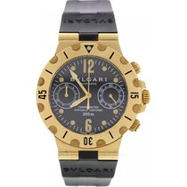 Bulgari Men's  Scuba 18K Yellow Gold Watch Chronometer...