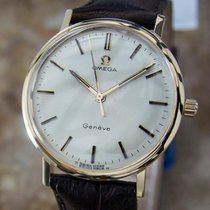 Omega Geneve Calibre 601 Swiss Made Solid 18k Gold Men's...