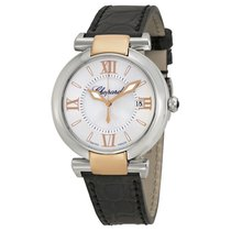 Chopard Imperiale Mother of Pearl Dial Black Leather Ladies...
