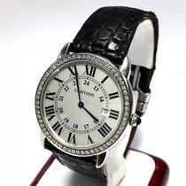 Cartier Ronde Solo Steel Men's Watch W Diamond Bezel &...