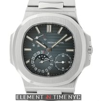 Patek Philippe Nautilus Stainless Steel Moonphase Power...
