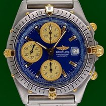 Breitling Chronomat 40mm Automatic Chronograph Blue Dial Gold...