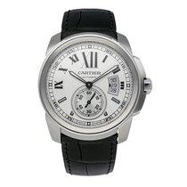 Cartier Calibre de Cartier 42mm Stainless Steel Watch Leather...