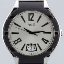 Piaget Polo Date, Automatic, 18K White Gold & Ceramic 43mm...