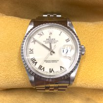 Rolex Datejust Mens Stainless Steel Watch Jubilee Band White