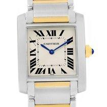 Cartier Tank Francaise Midsize Steel 18k Yellow Gold Watch...