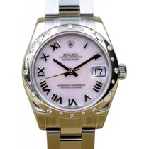 Rolex Datejust 178344 Ladies Midsize 31mm Pink Mother of Pearl...