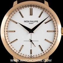 Patek Philippe 18k Rose Gold Opaline Silver Dial Calatrava...