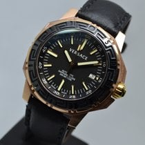 Versace Diver 200M Rose Gold Plated Sapphire Ceramic Automatic...