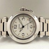Cartier Pasha C Steel Date White Dial Rosé Index 35 mm