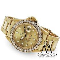 Rolex Diamond Rolex Yacht-master 18k Yellow Gold Champagne...