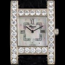 Chopard 18k W/G MOP Dial Diamond Bezel H Watch B&P...