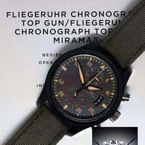 IWC Top Gun Miramar Chronograph Ceramic Titanium Mens Watch...