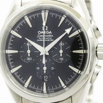 Omega Polished Omega Seamaster Aqua Terra Chronograph Steel...