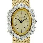 Movado Gold Diamond Bezel  Ladies Watch