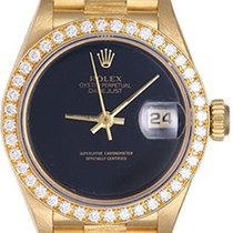 Rolex Ladies Barked President Gold & Diamond Watch 69278...