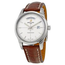 Breitling Transocean Day & Date Automatic Silver Dial...
