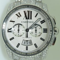 Cartier Calibre De Cartier,Chrono,Iced out aftermarket diamonds