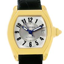 Cartier Roadster 18k Yellow Gold Large Watch W62005v2 Box Papers