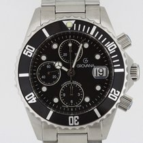 Grovana Automatic Diver Chronograph BLACK NEW 2 Years Warranty...