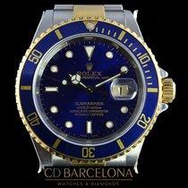 Rolex Submariner 16613 Steel & Gold New With  Plastics 2002