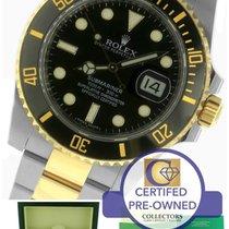 Rolex Submariner Ceramic 116613 N LN Two-Tone Gold Black Dive