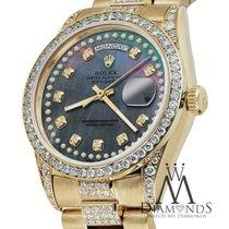 Rolex Presidential Day Date 36mm Black Tone Dial Diamond Watch...