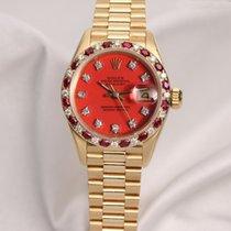 Rolex Lady DateJust 69198 Stella Diamond & Ruby 18K Yellow...