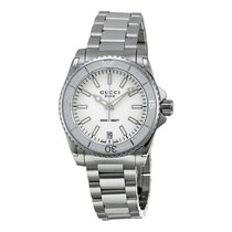 Gucci Dive Medium White Dial Stainless Steel Unisex Watch...