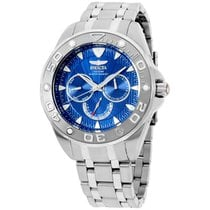 Invicta Men's 12254 Pro Diver Blue Dial Stainless Steel Watch