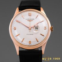 Longines 18K Solid Rose Gold Manual 1956 Year  36mm