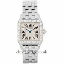 Cartier Santos Demoiselle 18ct White Gold Diamond WF9004Y8