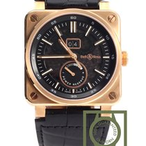 Bell & Ross BR 03-90 Pink Gold black Crocodile strap NEW