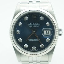 Rolex Datejust 36mm FACTORY DIAMONDS  White Gold Bezel / Steel