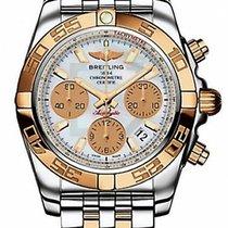 Breitling Chronomat 41 watch CB014012/A722/378C 18k pink gold...