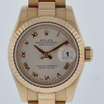 Rolex LADIES PRESIDENT 179175 FACTORY ROSE ROMAN DIAL 2-YR...