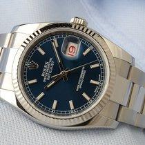Rolex Datejust 36mm Stahl/Weißgold 116234 Blau