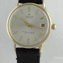 Hamilton Masterpiece 14k Yellow Gold Thin-o-matic Wrist Watch...