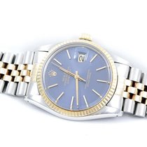 Rolex Mens 18K/SS Datejust - Blue Stick Dial - Jubilee Band -...