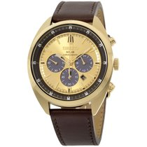 Seiko Recraft Champagne Dial Leather Strap Men's Watch Ssc570