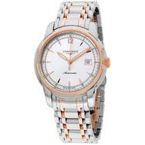 Longines Automatic Silver Dial Rose Gold Stainless Steel Mens...